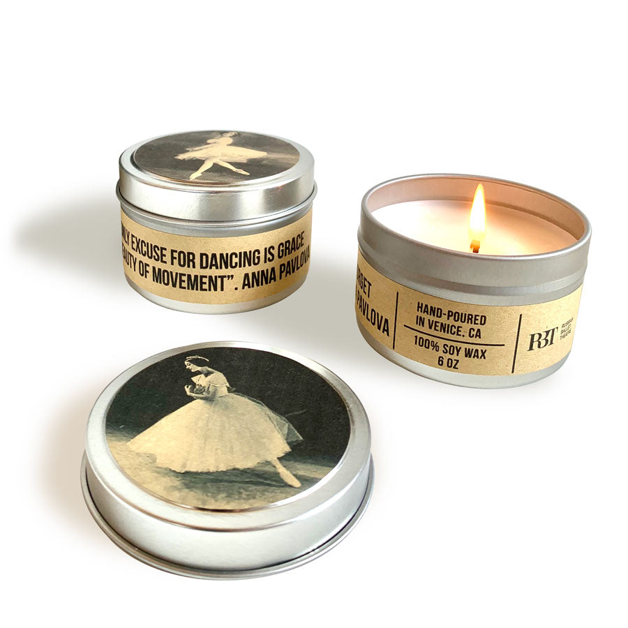 Anna Pavlova Ballet Candle in a Tin