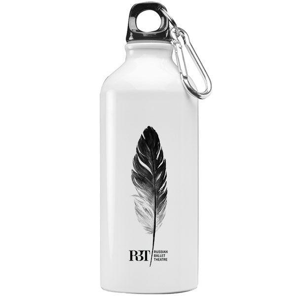 Load image into Gallery viewer, Dance Water Bottle White and Black Feather Iron flask