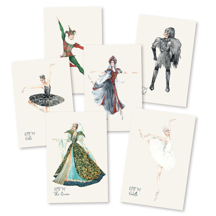 swan lake postcards