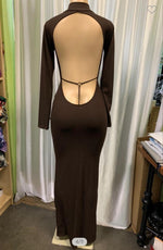 Brown Long Sleeve Dress