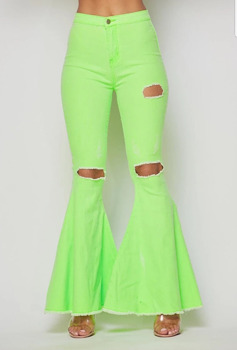 Flare Leg Bell Bottom Pants