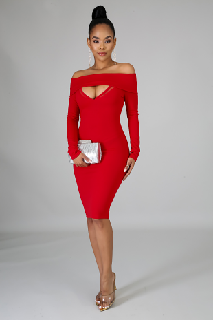 Venechia Midi Body-Con Dress