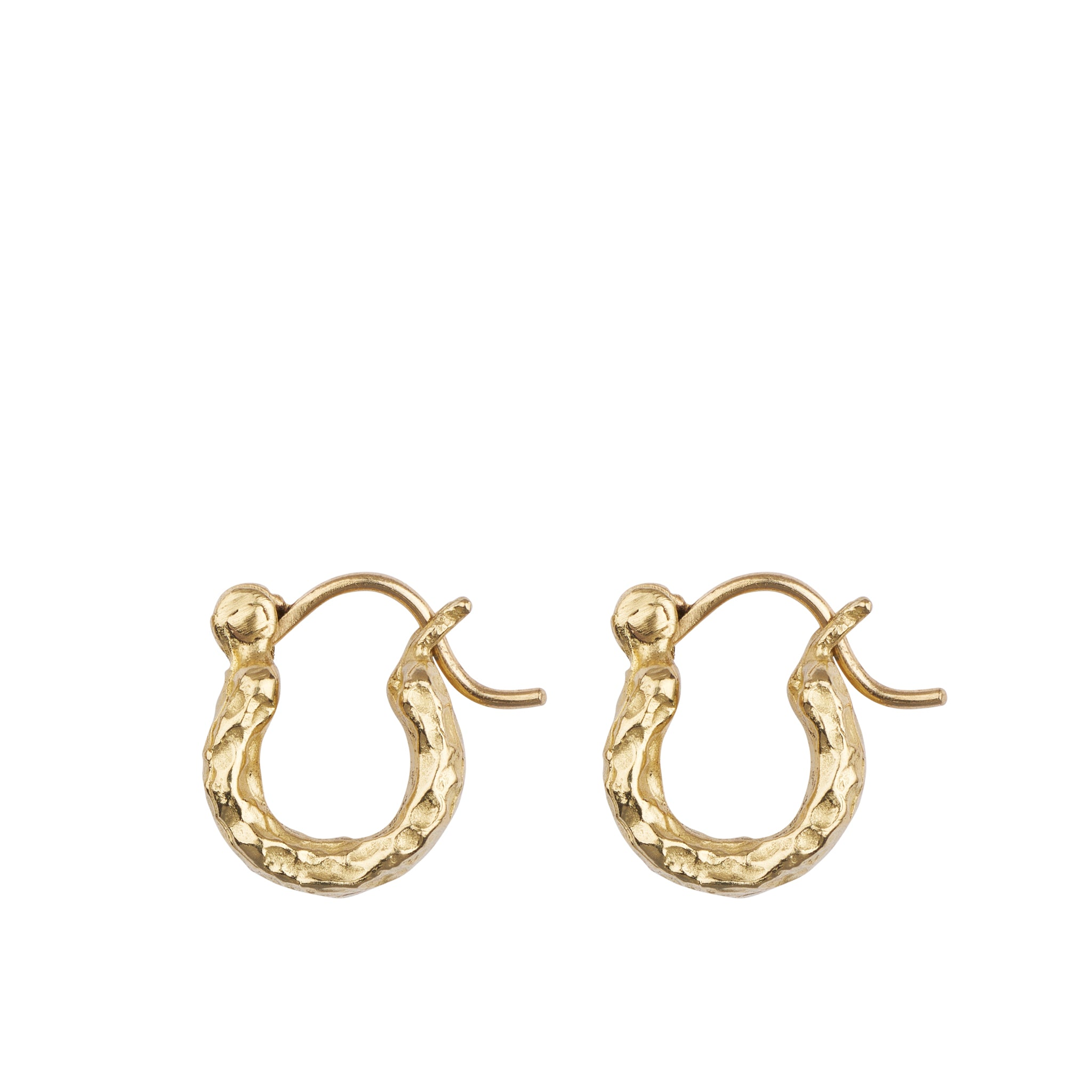 GOLD CHUBBY HOOPS SIDE VIEW | MINI HOOPS | ALICE WAESE | 14K GOLD | AETLA JEWELLERY EDINBURGH
