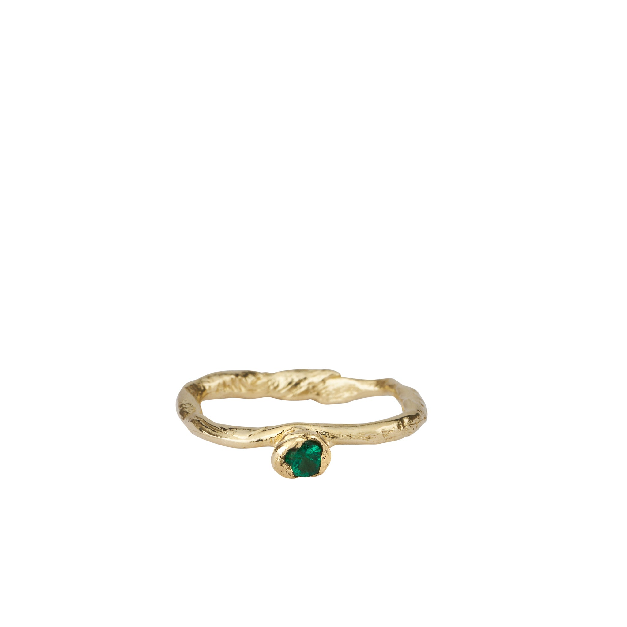 ROWENA RING | ALICE WAESE | ENGAGEMENT RING | EMERALD AND GOLD | AETLA JEWELLERY EDINBURGH