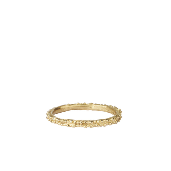 Double Beaded Gold Wedding Band | Ruth Tomlinson | Aetla