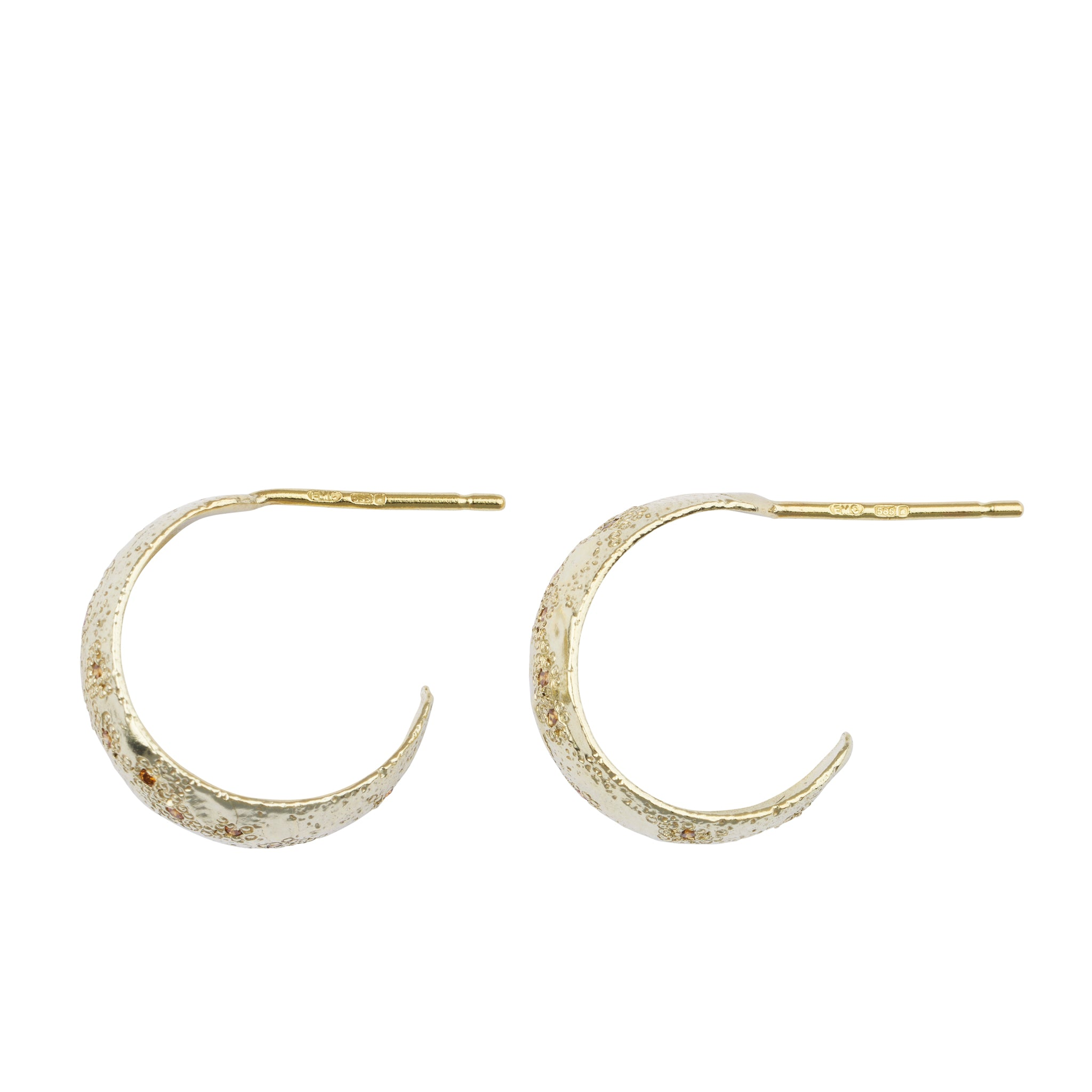 gold and diamond hoop earrings ellis mhairi cameron