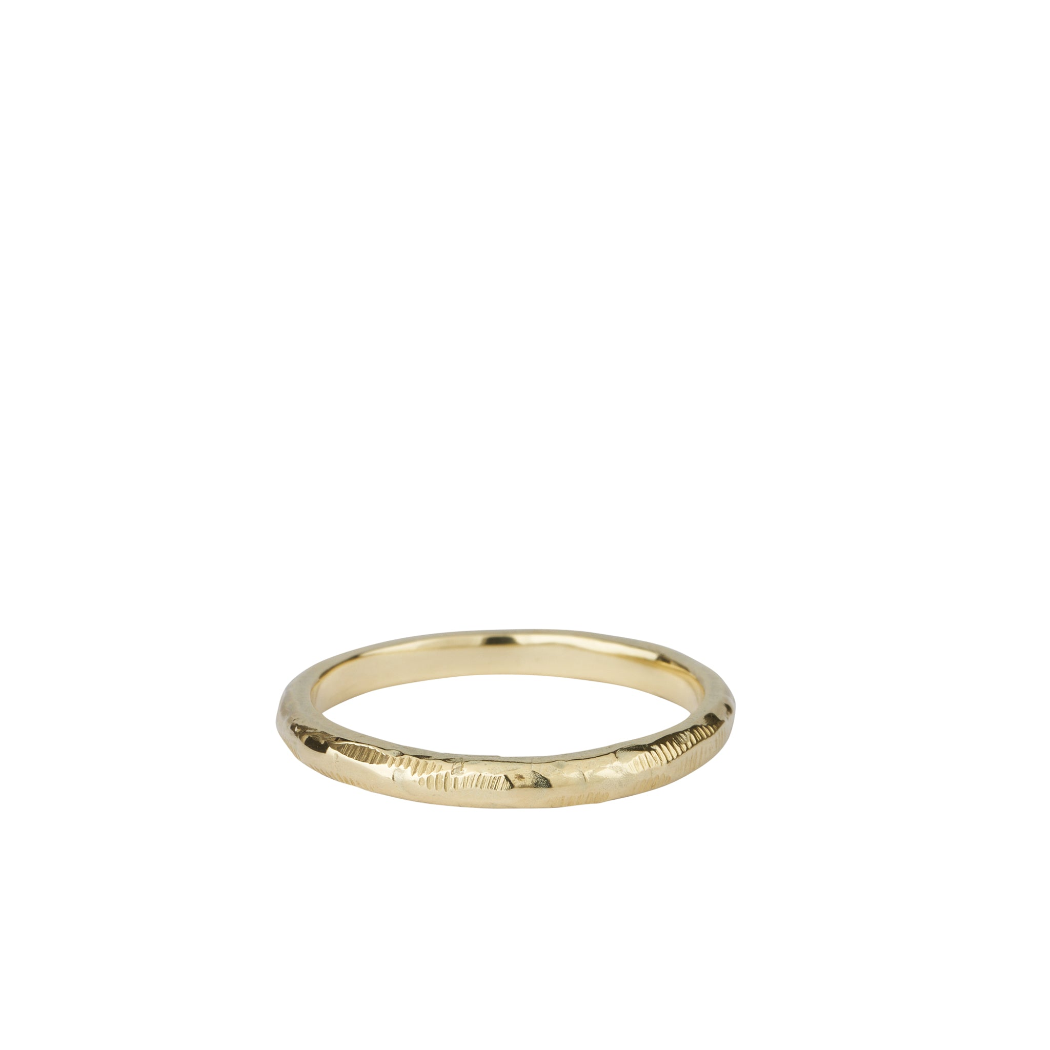 textured gold wedding ring band