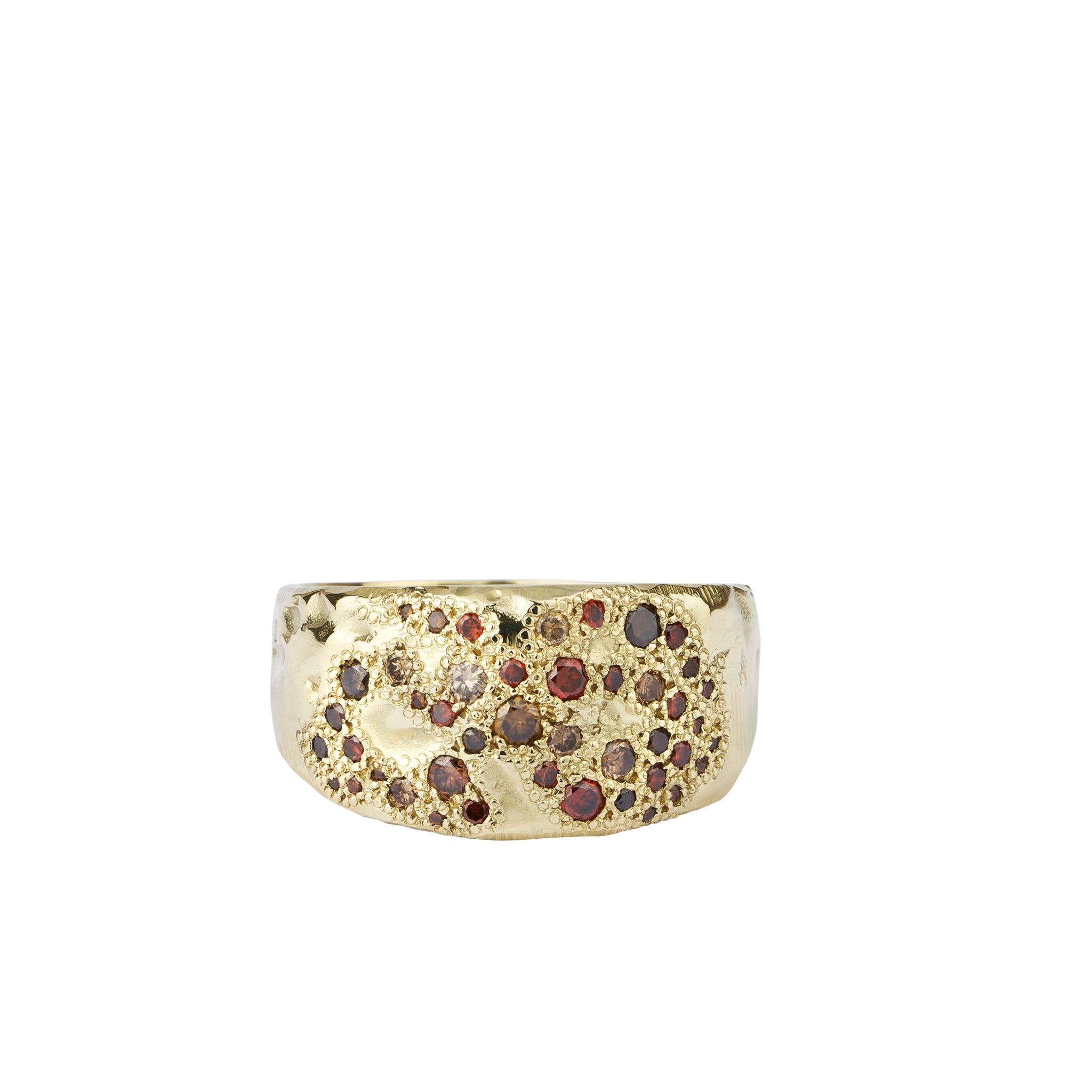 mixed diamonds scatter shield ring