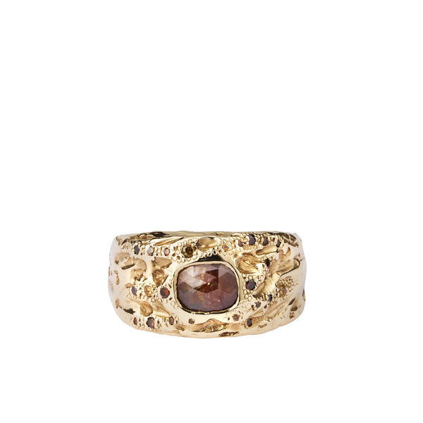 ellis mhairi Cameron shield ring red diamond