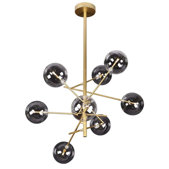 elevenpast 8 Light Glass Ball Pendant
