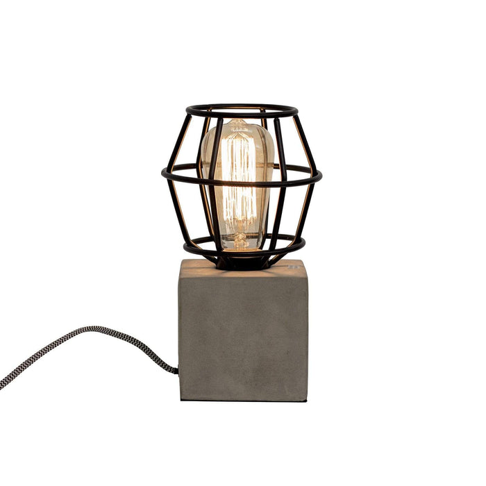 elevenpast Accessories Black Concrete Work Lamp