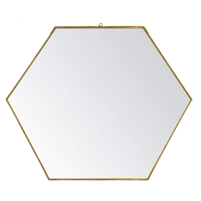 elevenpast Accessories Geo Mirror Brass Edge