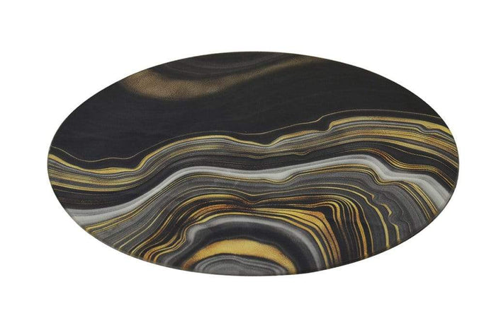 elevenpast Accessories GLASS PLACE MAT ROUND AGATE WAVE