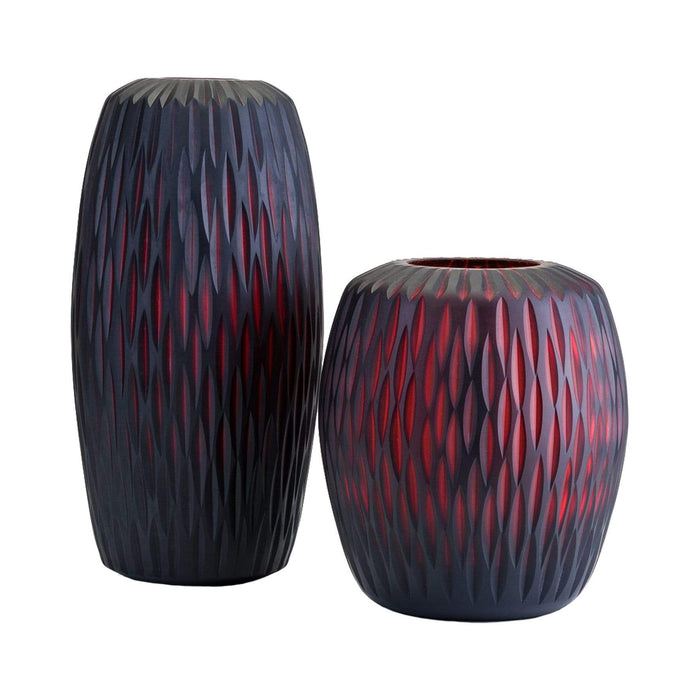 elevenpast Accessories Grooved Glass Vase