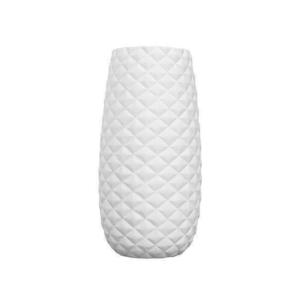 elevenpast Accessories Large / Matt White Diamond Vase