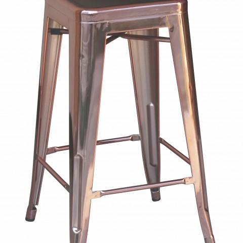 elevenpast Anodised Rose Gold Replica Tolix Kitchen Stool