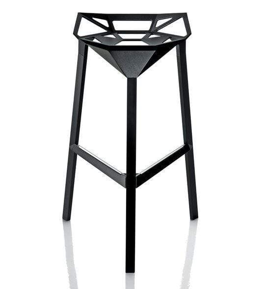 elevenpast Bar stool Black Geo Bar Stool