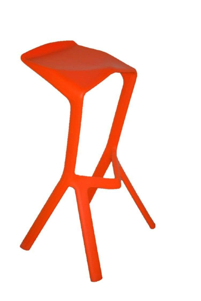 elevenpast Bar stool Orange Replica Shark Bar Stool