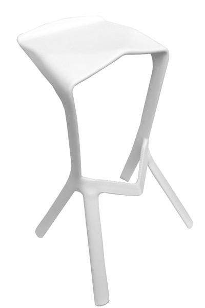 elevenpast Bar stool White Replica Shark Bar Stool