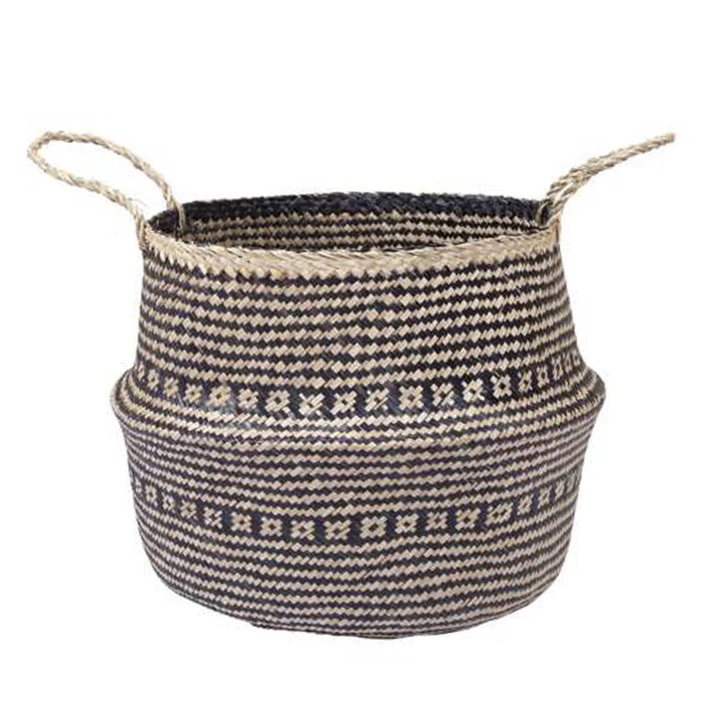 elevenpast baskets Black/ø40cm Tullah Pattern Basket