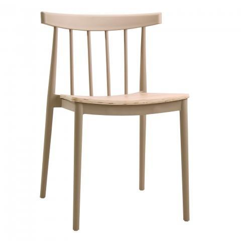 elevenpast Beige Tokyo Wood Seat Cafe Chair