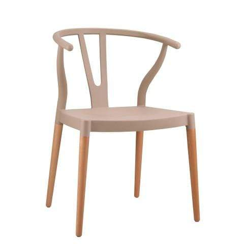 elevenpast Beige Wegner Wishbone Replica Cafe Chair