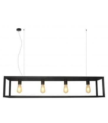 elevenpast Black 4Light Box Pendant