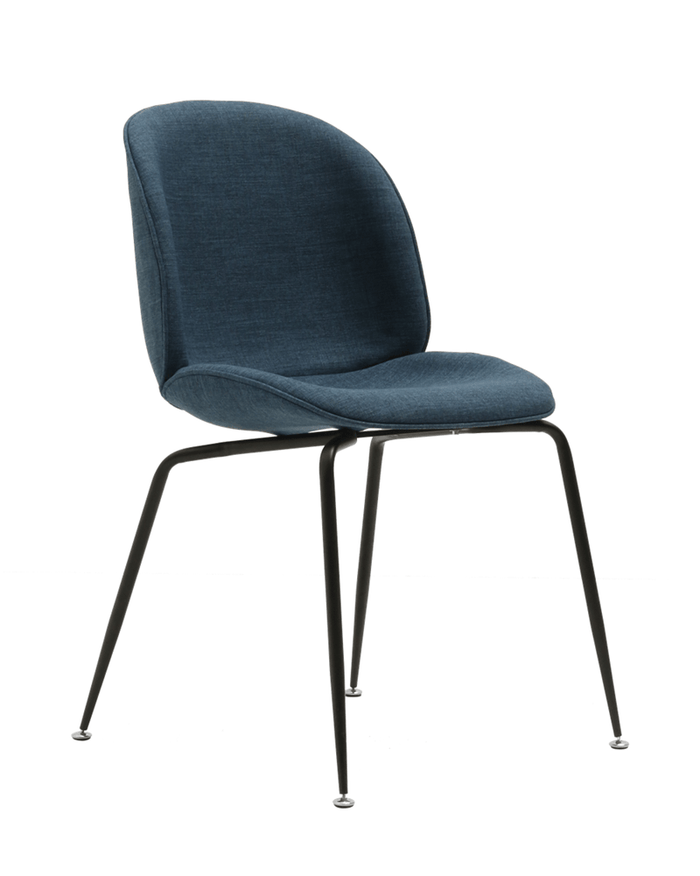 elevenpast Black / Blue Upholstered Beetle Chair
