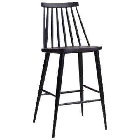 elevenpast Black Cafe Bar Stool