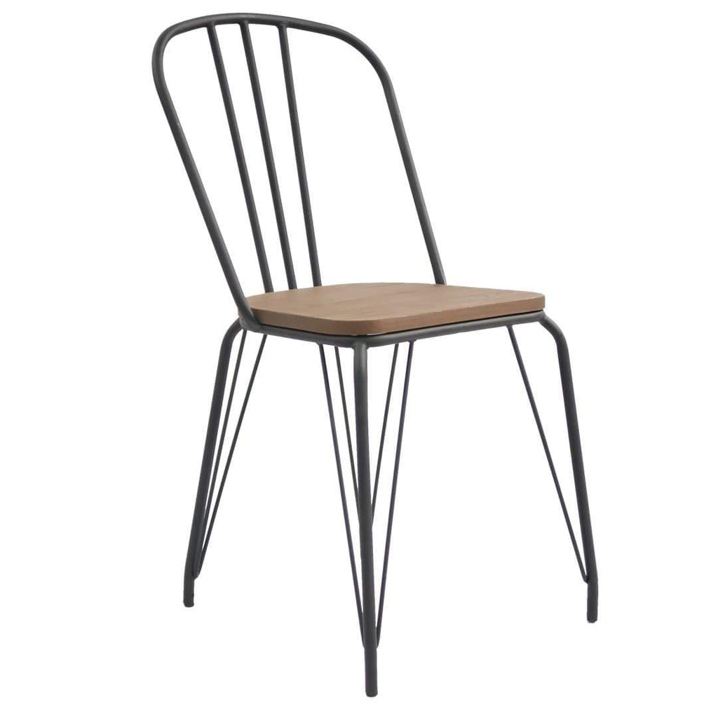 elevenpast Black Hairpin Wood Chair