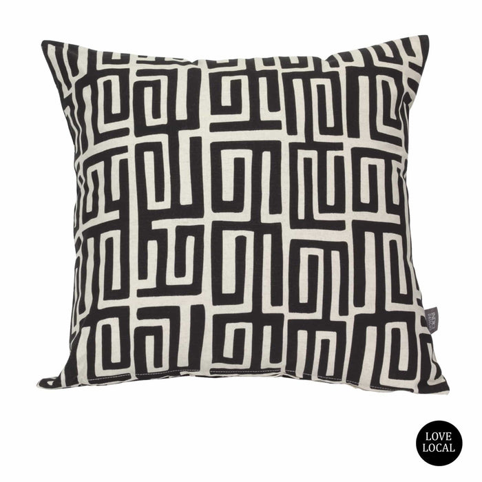 elevenpast Black Kuba Kuba Cushion Cover