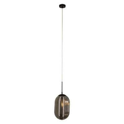 elevenpast Black/Smokey Ellipsoidal Pendant