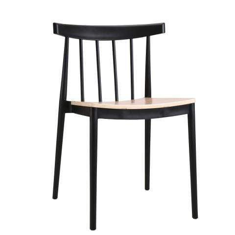 elevenpast Black Tokyo Wood Seat Cafe Chair