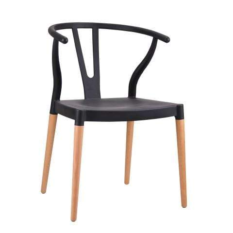 elevenpast Black Wegner Wishbone Replica Cafe Chair