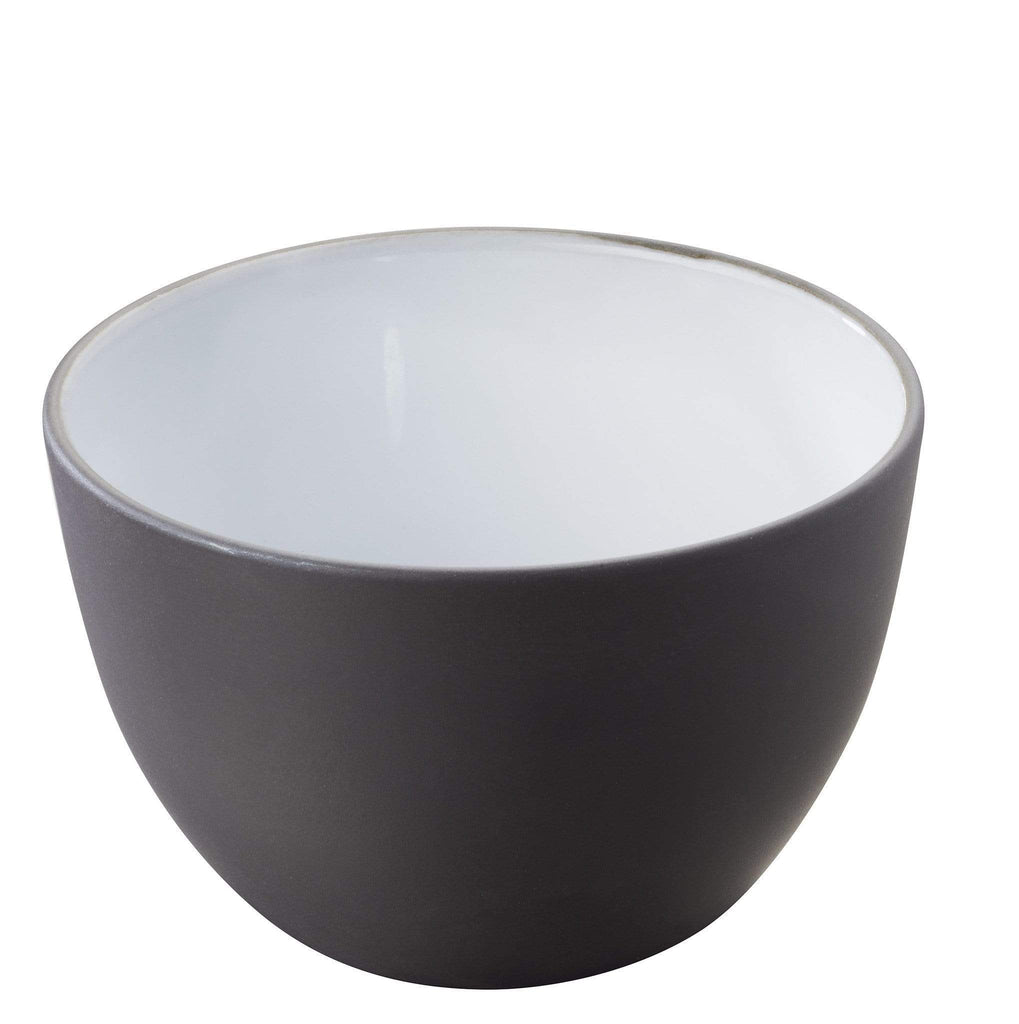 elevenpast Black/White Solid Serving Bowl 13cm