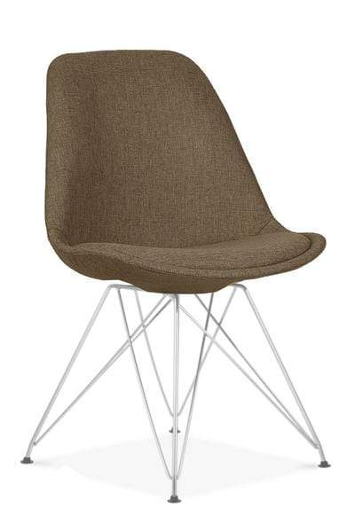 elevenpast Brown / Chrome Upholstered Eames Inspired Chair