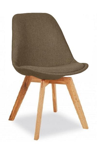 elevenpast Brown / Oak square Upholstered Eames Inspired Chair