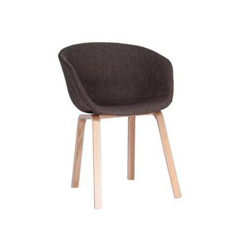 elevenpast Brown Upholstered Replica Hay Chair