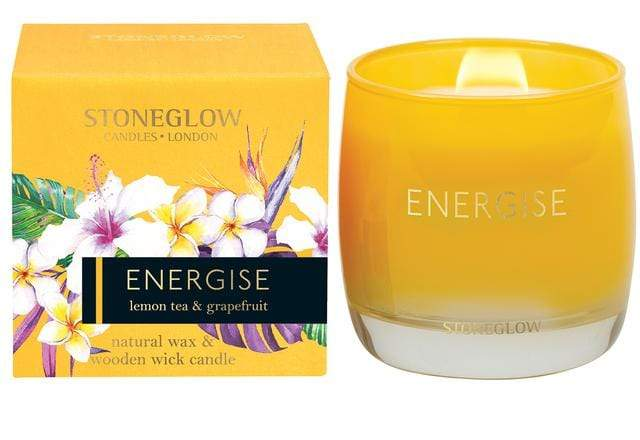 elevenpast candles ENERGISE LEMON TEA & GRAPEFRUIT Infusion Stoneglow Candle