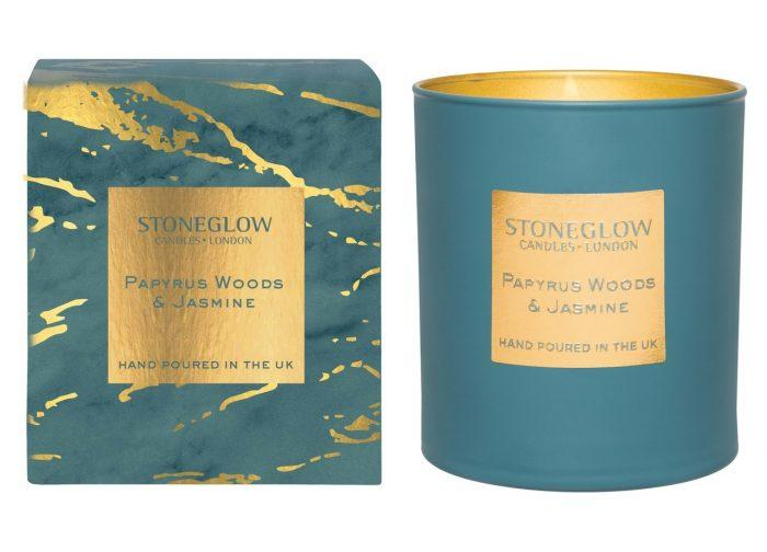 elevenpast candles Papyrus Woods & Jasmine Luna Stoneglow Candle