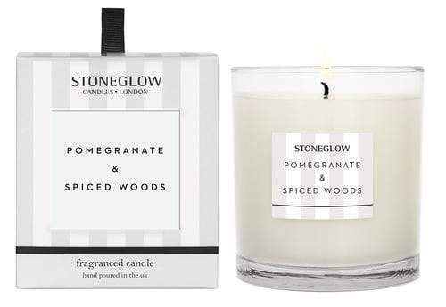 elevenpast candles Pomegranate & Spice Woods Modern Classic Stoneglow Candle