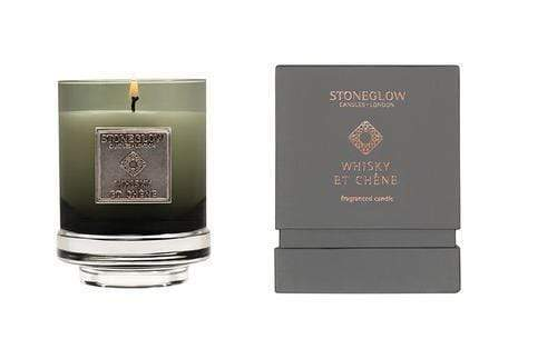 elevenpast candles Whisky Et Chene Metallique Stoneglow Candle in a Jar