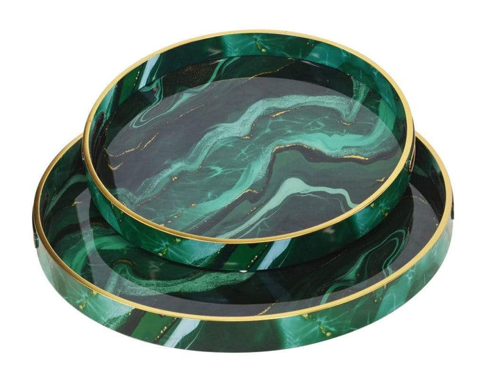 elevenpast Ceramics Glass Tray Agate Green