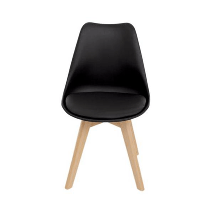 elevenpast Chairs Black Eames Inspired Soft Seat Chair