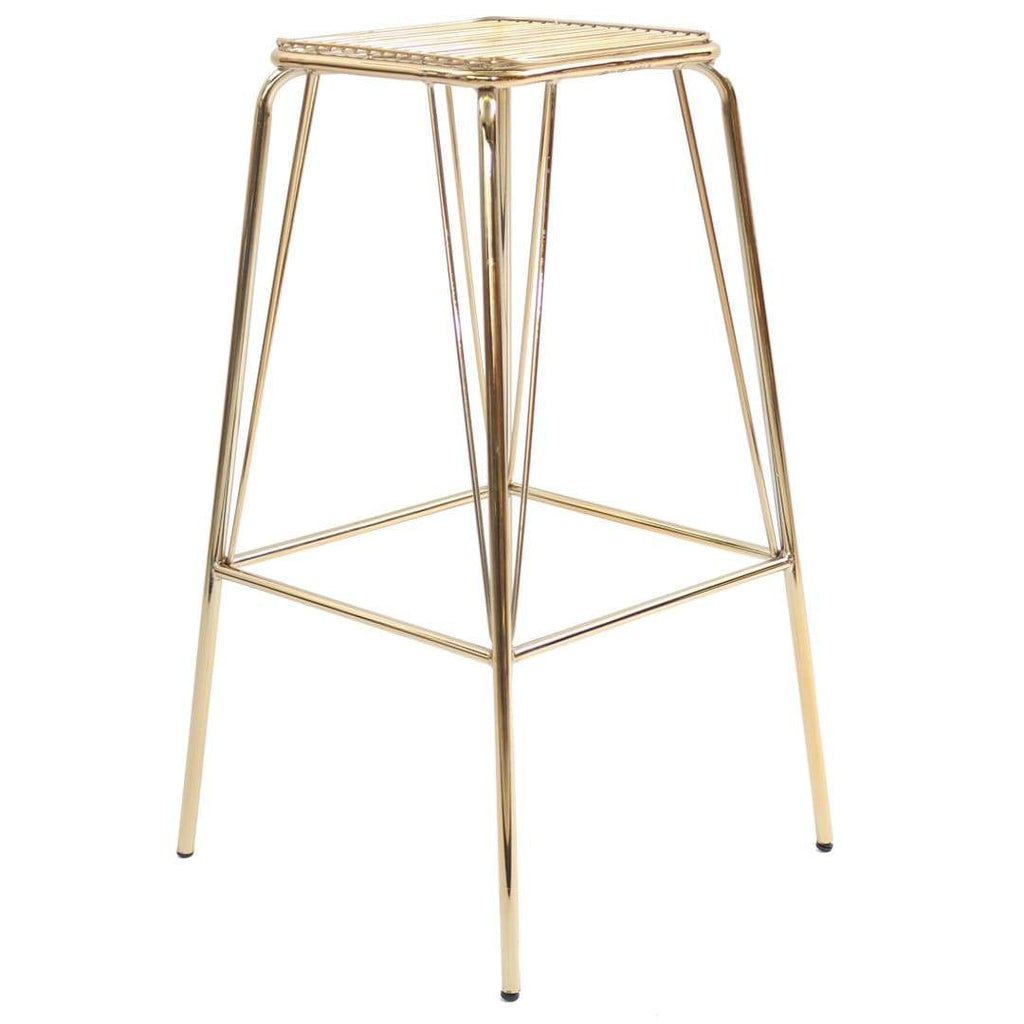 elevenpast Chairs Gold Metalic Wire Barstool