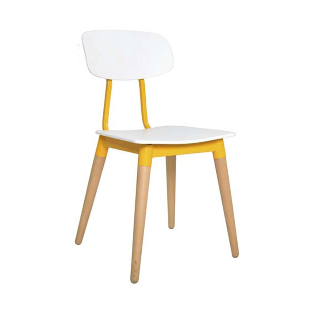 elevenpast Chairs White & Yellow Cloe Cafe Chair