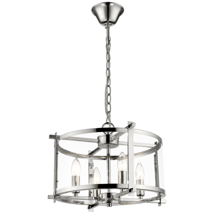 elevenpast Chandeliers Polished Chrome 4 light Chandelier