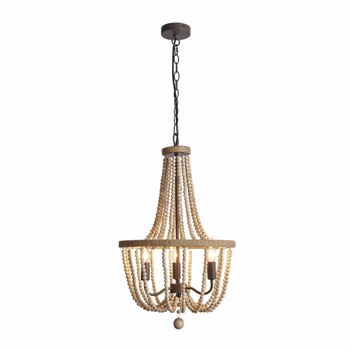 elevenpast Chandeliers Wood Bead Chandelier