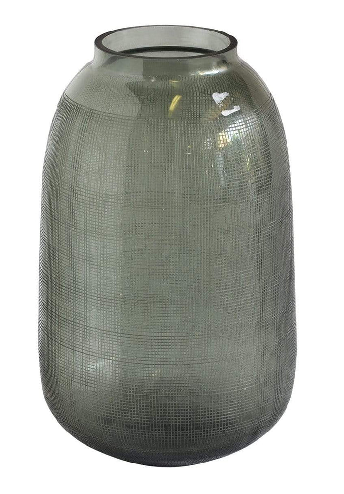 elevenpast Checked Glass Vase