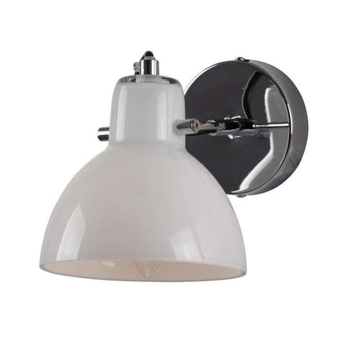 elevenpast Chrome & Opal Siena Spot Wall Light